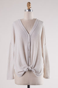 Waffle Knit Top / Cardigan