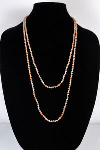 Long Beaded Necklace (4mm)