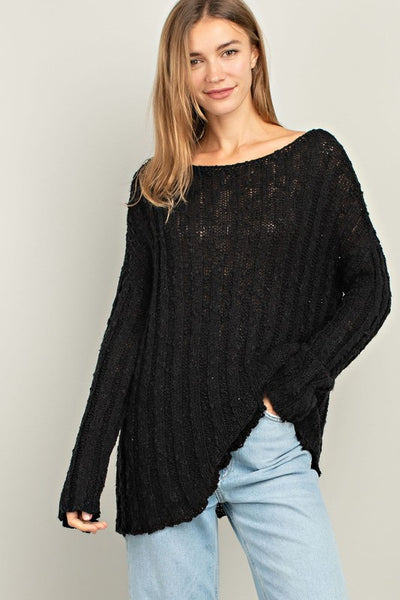 Black Long Sleeve Knit