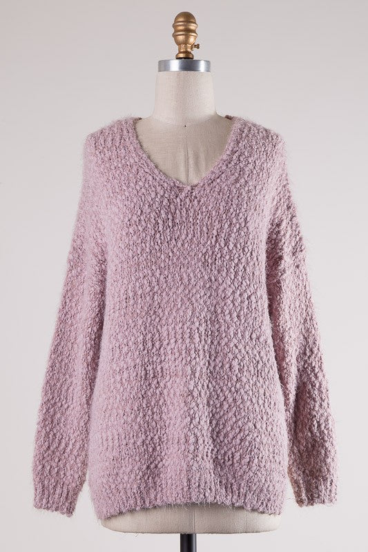 Rose Popcorn Sweater