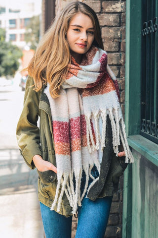 Cozy Striped Scarf
