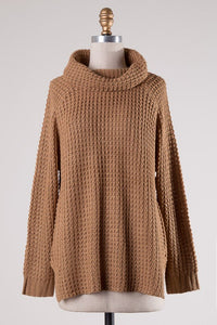 Long Sleeve Cowl Neck Sweater