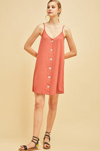 Salmon Button Dress