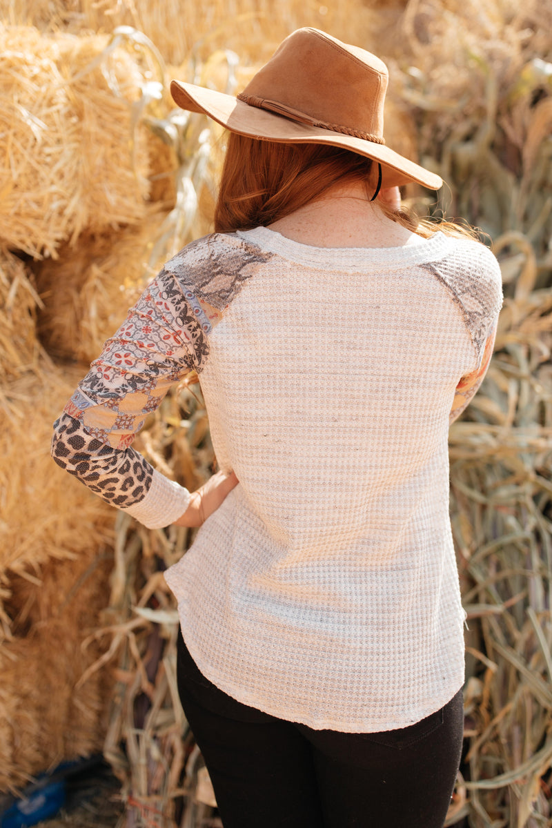 All About The Details Top in Heather