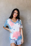 Beyond Blue Tie Dye V-Neck
