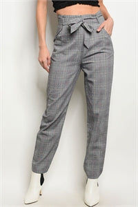 Checkered Paperbag Pants