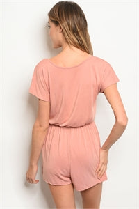 Peach Twist Romper