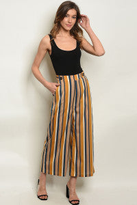 Mustard Stripe Pants