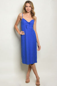 Cobalt Midi Bow Dress