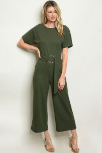 Olive Retro Jumpsuit