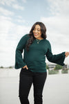 Elvira Hole In One Hunter Green Sweater