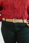 Fasten Your Belt in Camel