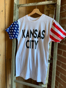 TayloredTee - Flag Sleeve KC