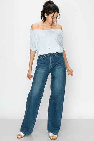 OTS Light Blue Crop