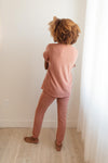 Luxurious Loungewear Joggers In Terracotta