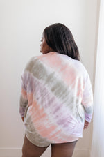 New Fangled Angled Tie Dye Top