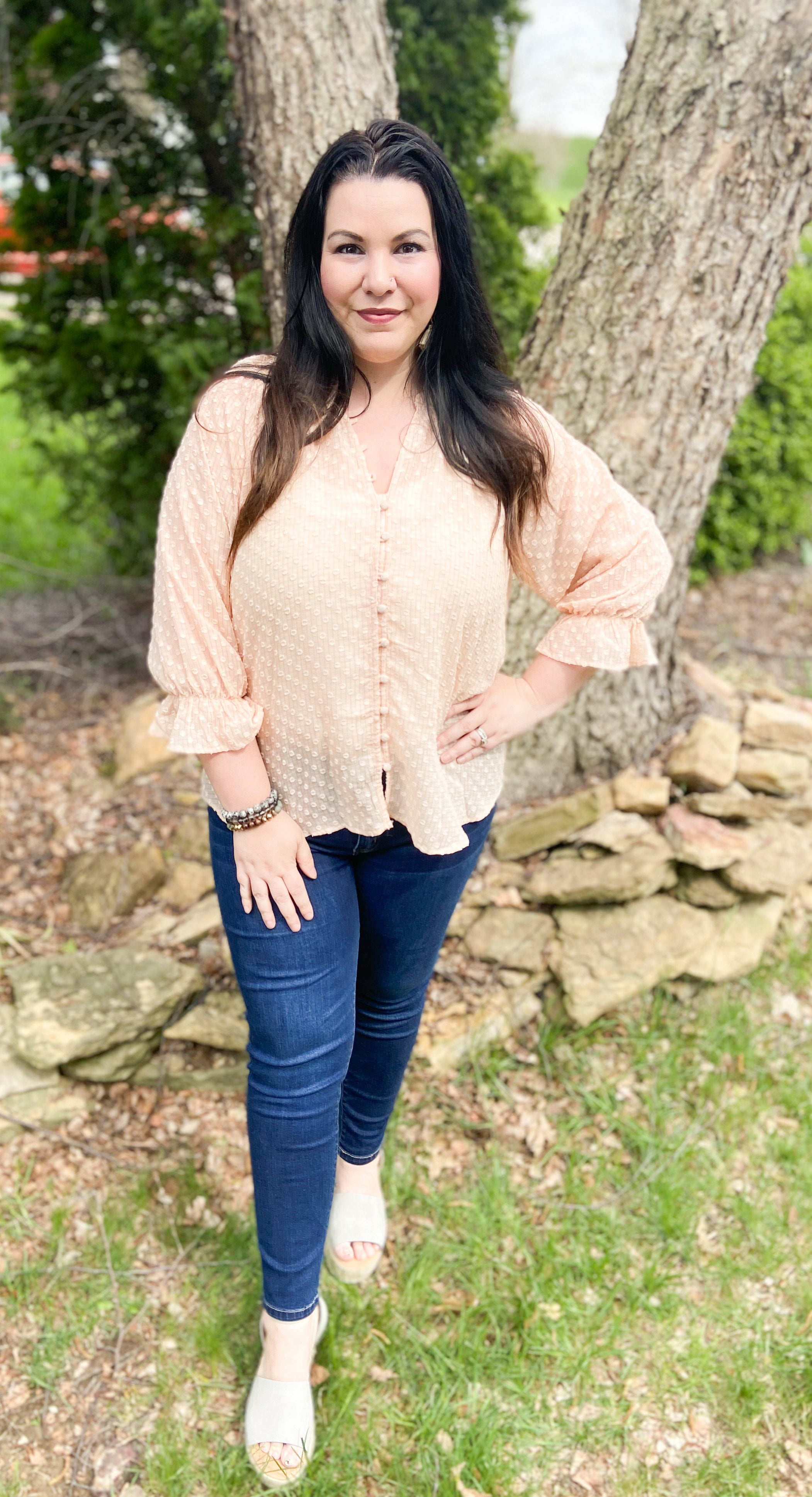 Rayna Blouse - Peach