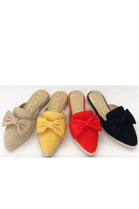 Taupe Bow Slide Shoe