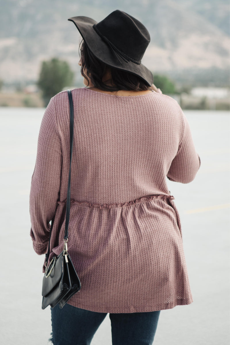 The Right Kind Of Attention Top In Dusty Rose