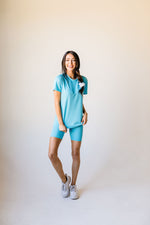 To Lounge Or Bike Top In Aqua