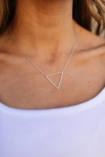 Top Off Triangle Necklace