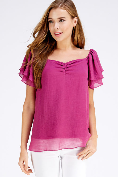Brooke Top - Berry