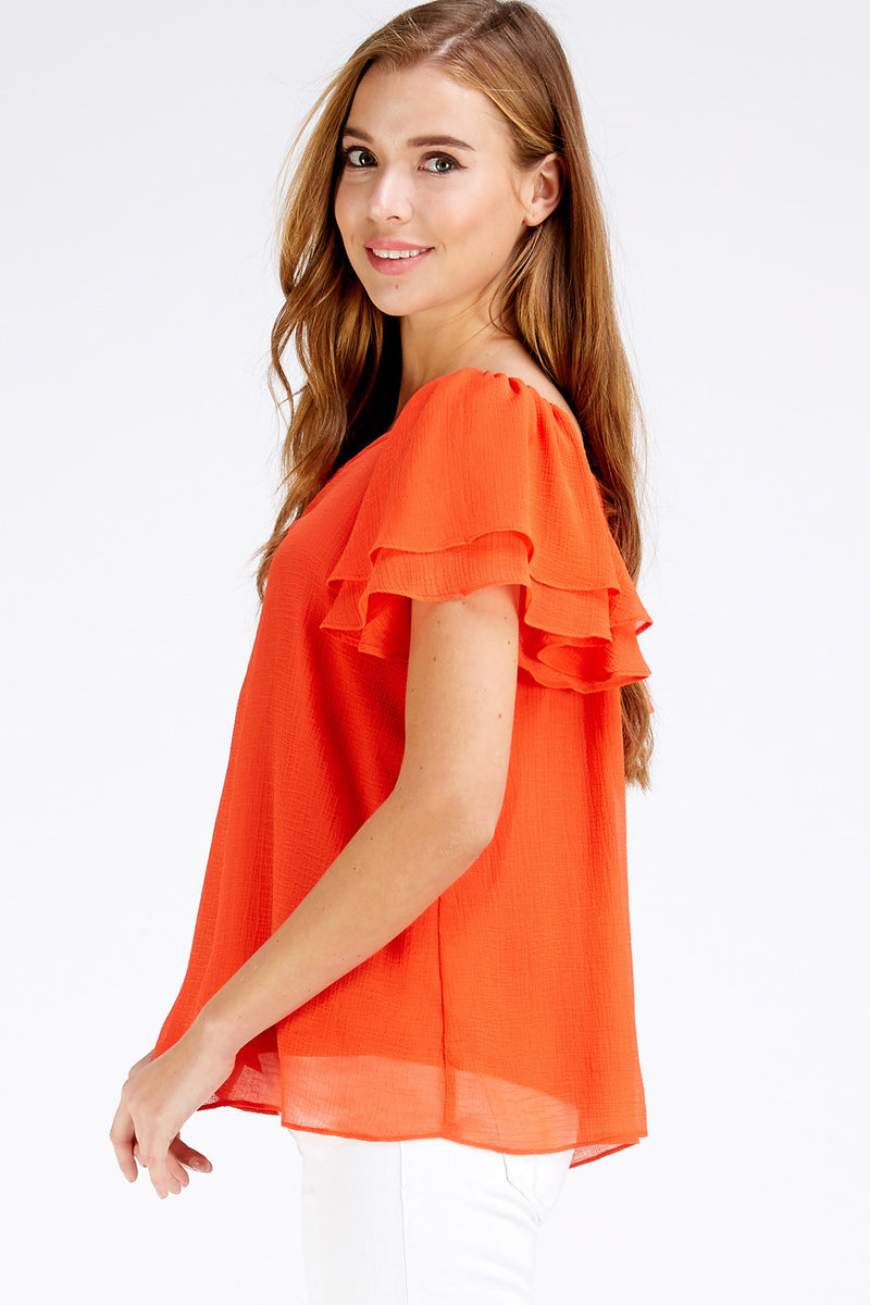 Brooke Top - Orange