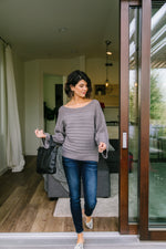 Good Lines Charcoal Sweater