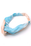 Tie Dye Headband In Blush & Blue