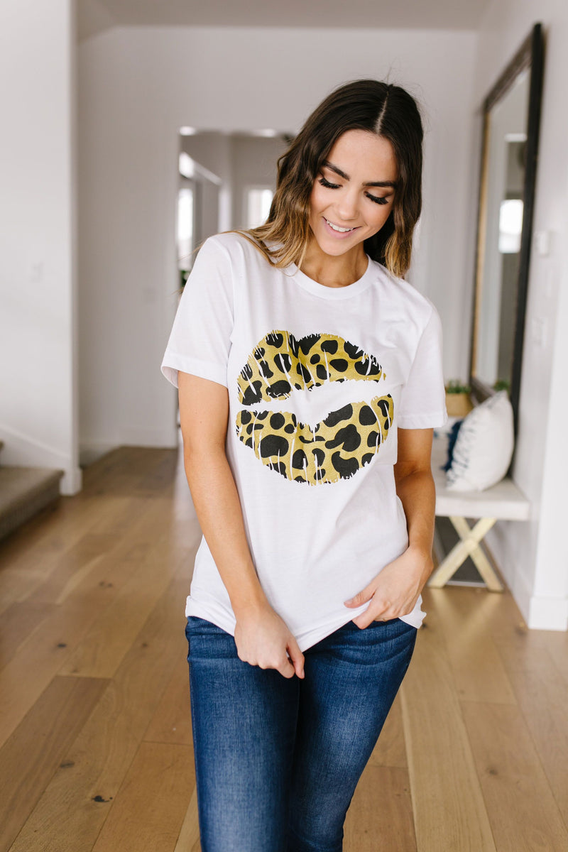 Leopard Lips Graphic Tee