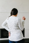 May Flowers Ribbed Top In Ivory