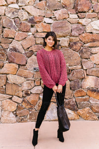 Paprika Open Knit Chenille Sweater