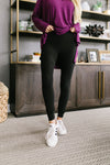 Soft As Butter Moto Leggings In Black