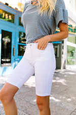 St. George White Bermuda Shorts