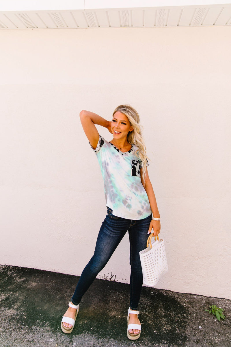 Tie Dye Animal Top