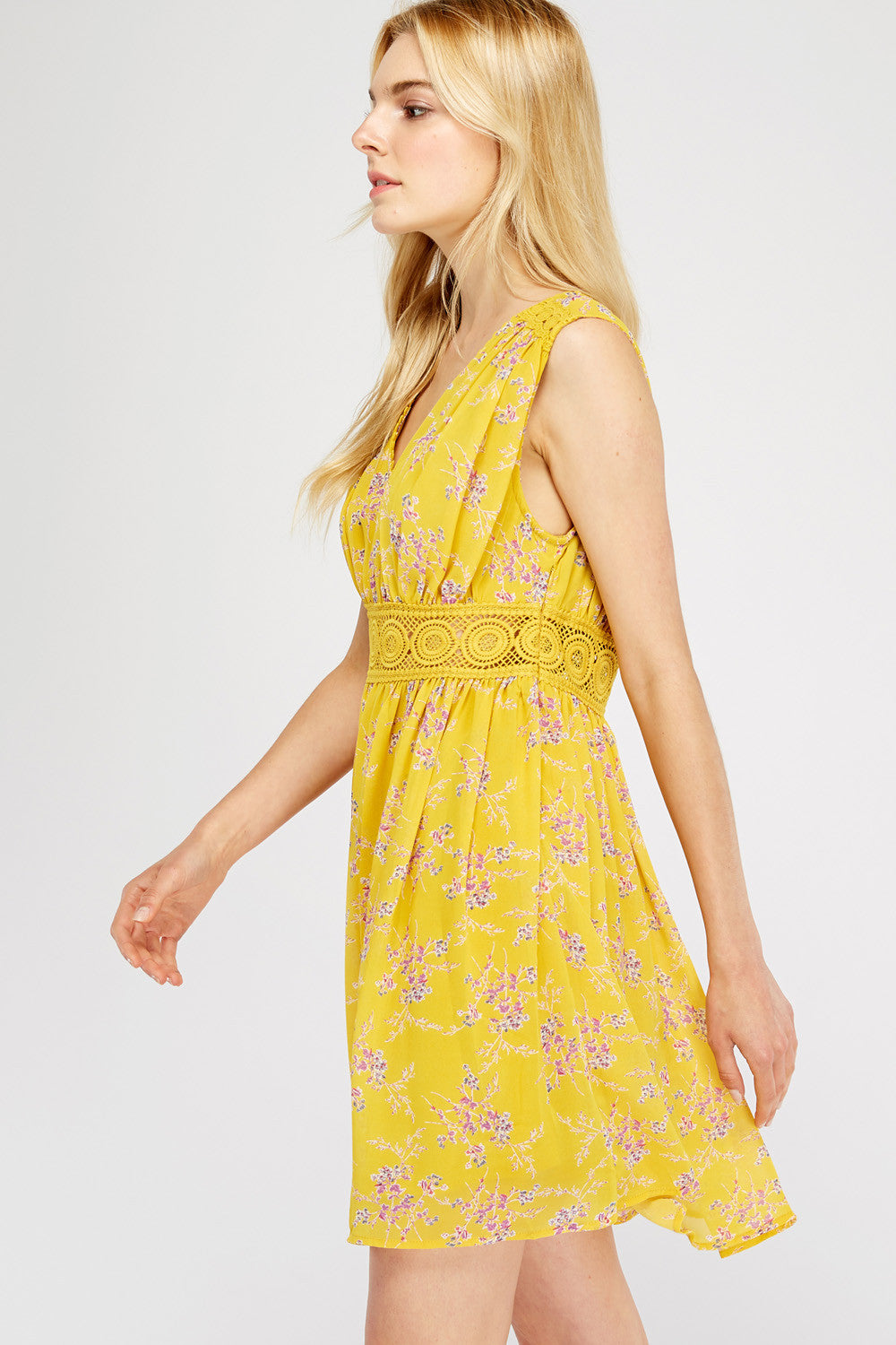 Trazo Dress - Yellow
