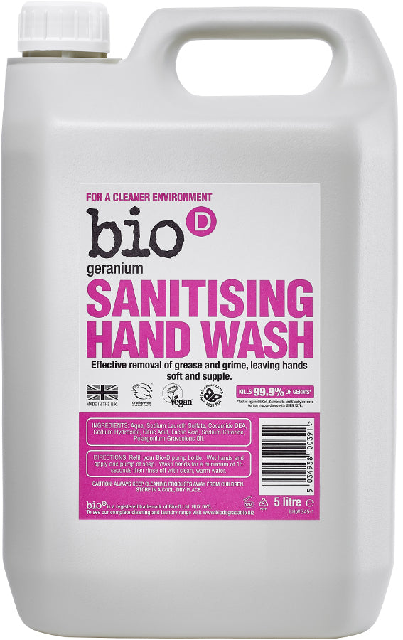Bio D Sanitising Hand Wash Geranium 100ml