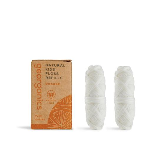 New Size & Larger quantity - Georganics Orange Silk Floss Refill (2 X 50 metres)