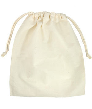Small Organic Fair Trade Cotton Mini Drawstring Bags 9 x 13cm