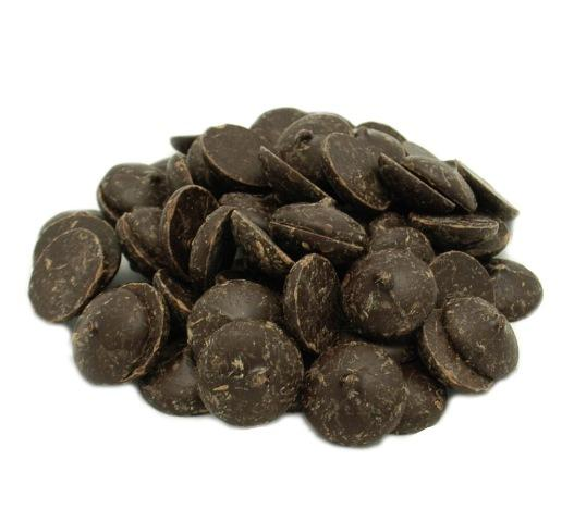 NEW - Organic 65% Dark Chocolate Buttons Vegan -100g