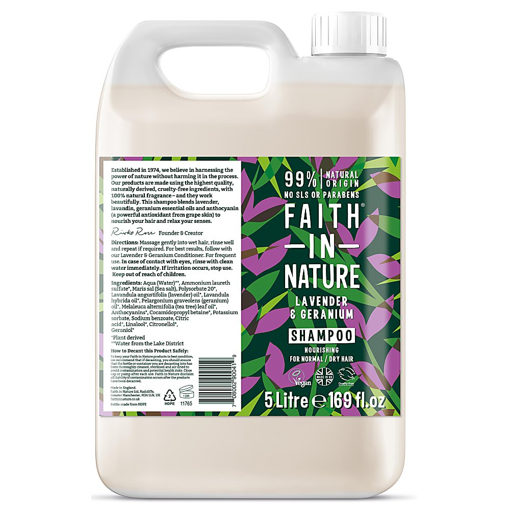 Faith in Nature Lavender & Geranium Shampoo 100ml REFILL