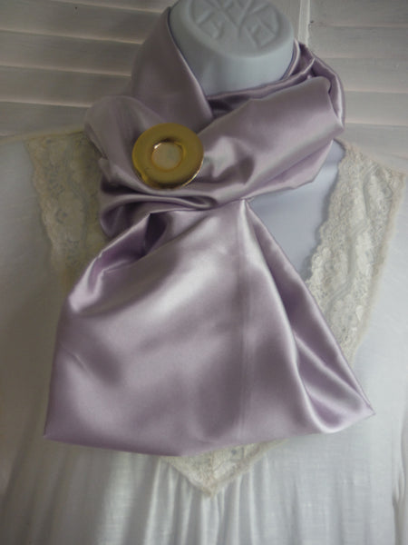 Handmade Spring Satin Infinity Scarf in Lavender 5 different colors to chose from