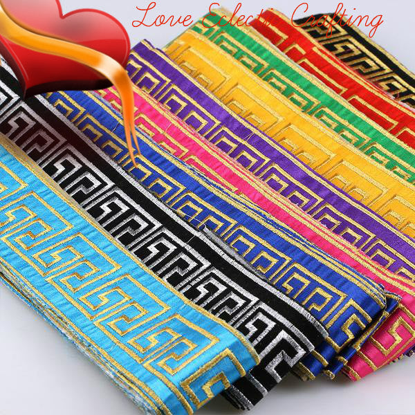 New fashion 9 colors  1 yard 55mm embroidered colorful vintage lace tape