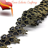 New fashion 1 yard 65mm embroidered colorful flower,  iron on