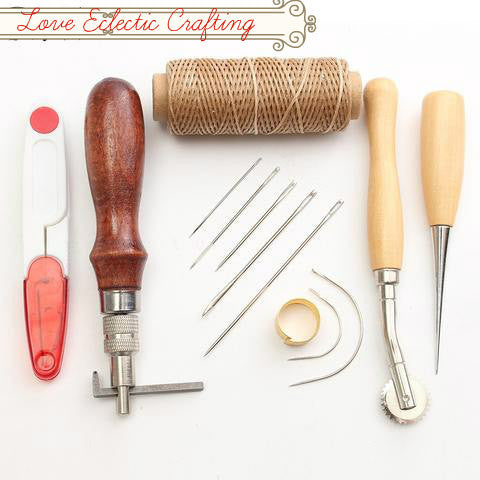7Pcs/set Leather Carft Hand Stitching Sewing Tool Kit