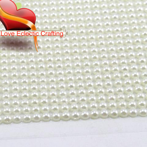 1sheet/lot(approx 1500pcs) 3mm Faux Pearl For  Scrapbooking and Crafts Stickers