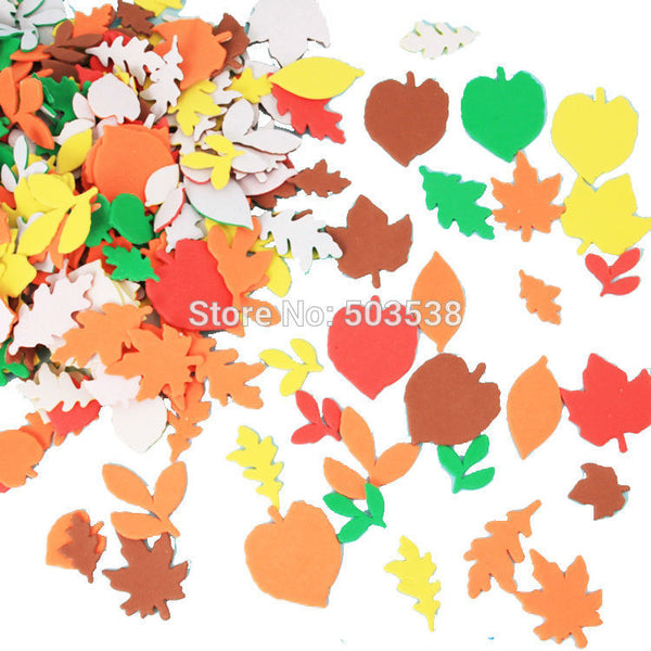 120PCS/LOT.Autumn leaf foam stickers,Kids DIY toy.Scrapbooking kit.