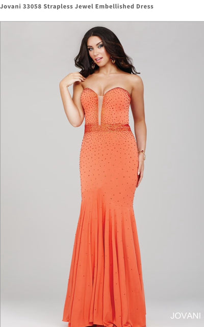 Strapless Jewel Embellished Dress