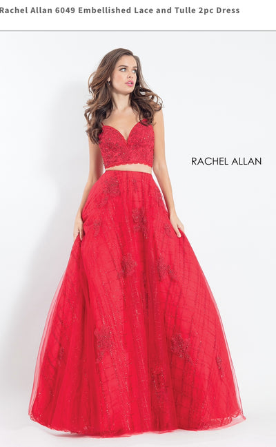 Embellished Lace and Tulle 2pc Dress