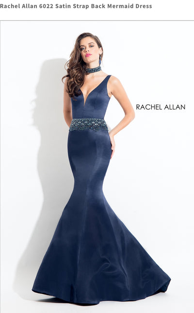 Satin Strap Back Mermaid Dress
